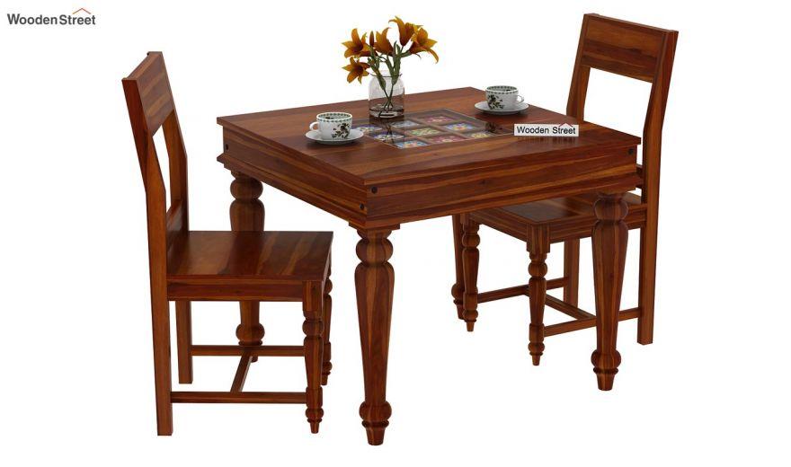 Boho 2 Seater Dining Set (Honey Finish)-2