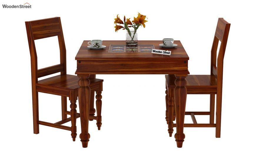 Boho 2 Seater Dining Set (Honey Finish)-3