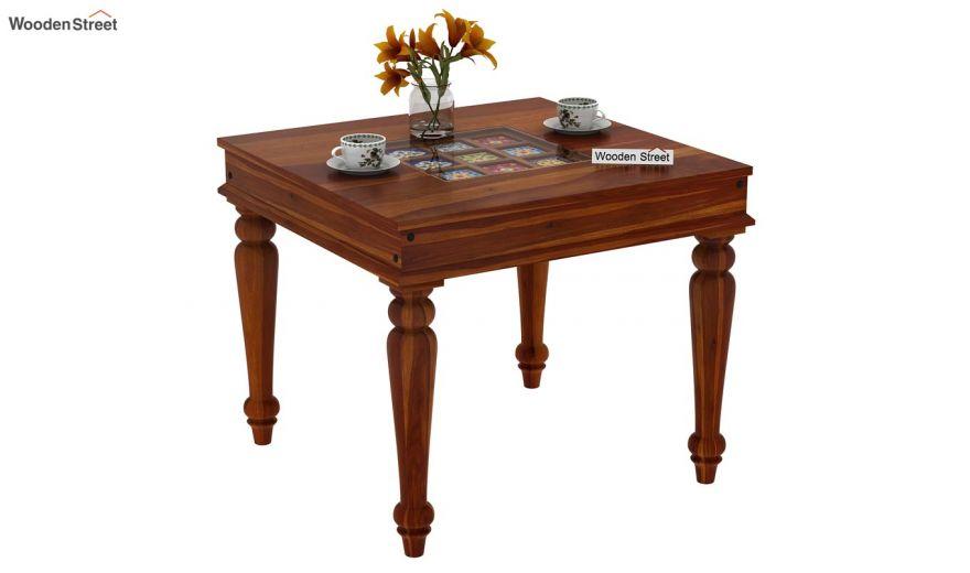 Boho 2 Seater Dining Set (Honey Finish)-4
