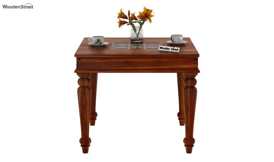 Boho 2 Seater Dining Set (Honey Finish)-5