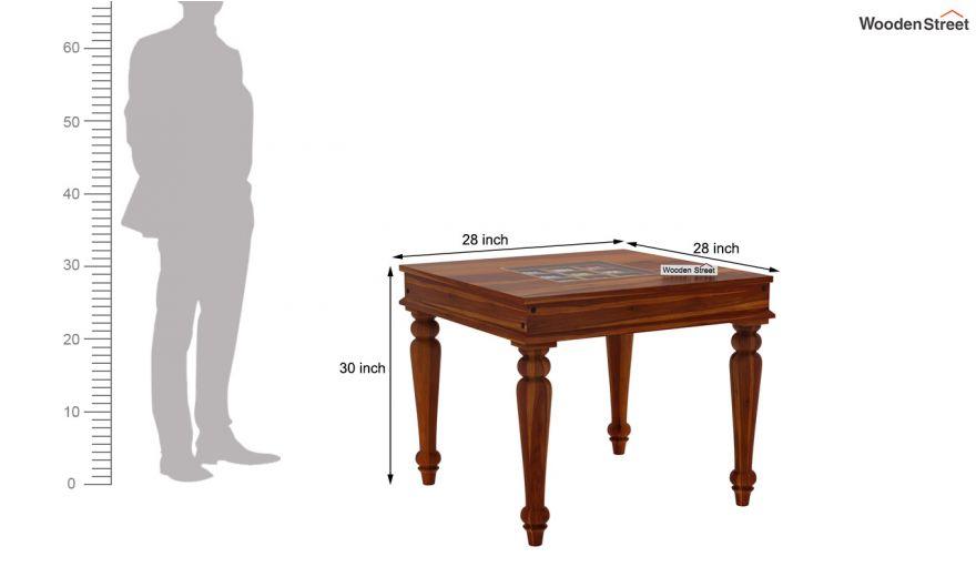 Boho 2 Seater Dining Set (Honey Finish)-11