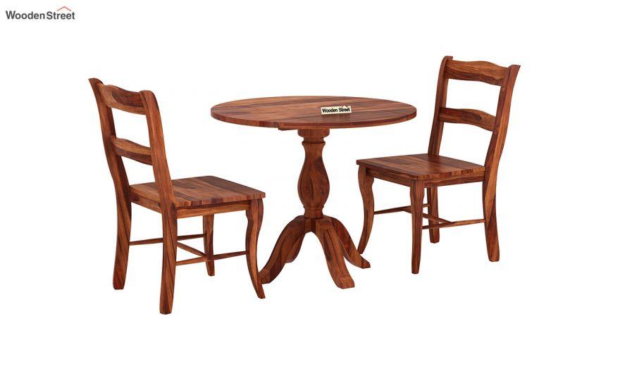 Clove 2 Seater Dining Set (Honey Finish)-3
