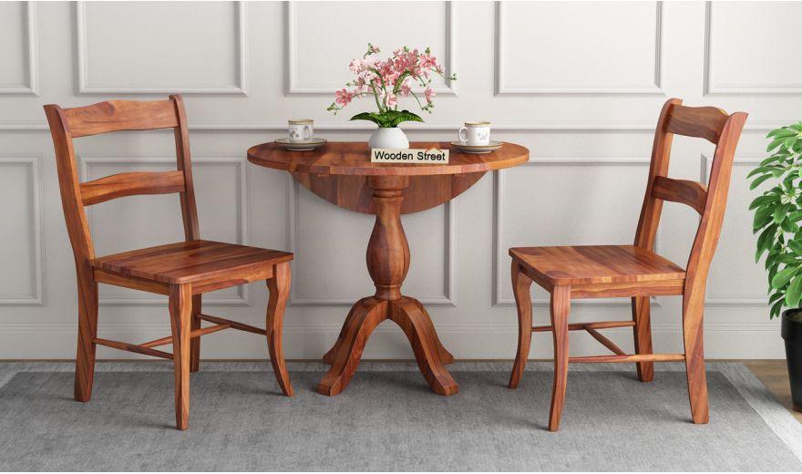Clove 2 Seater Dining Set (Honey Finish)-2