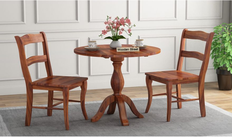 Clove 2 Seater Dining Set (Honey Finish)-1