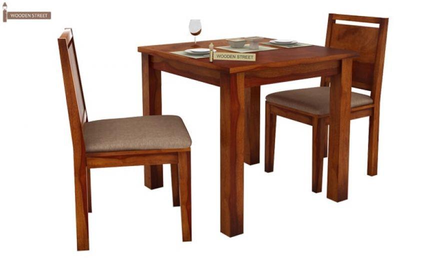 Orson 2 Seater Dining Set (Honey Finish)-2