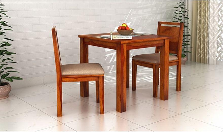 Orson 2 Seater Dining Set (Honey Finish)-1