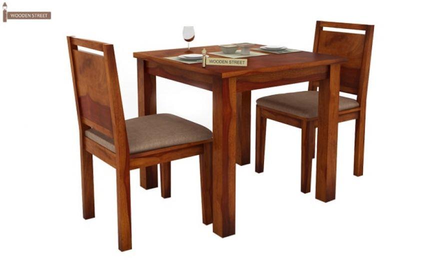 Orson 2 Seater Dining Set (Honey Finish)-3