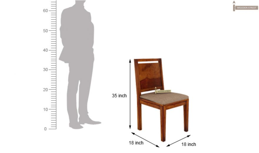Orson 2 Seater Dining Set (Honey Finish)-9