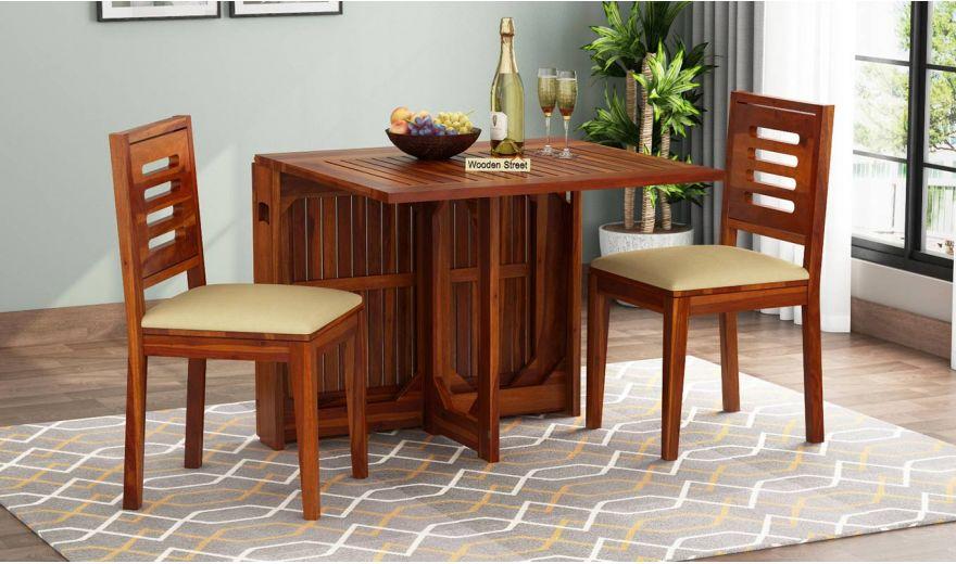 Paul 2 Seater Dining Set (Honey Finish)-1