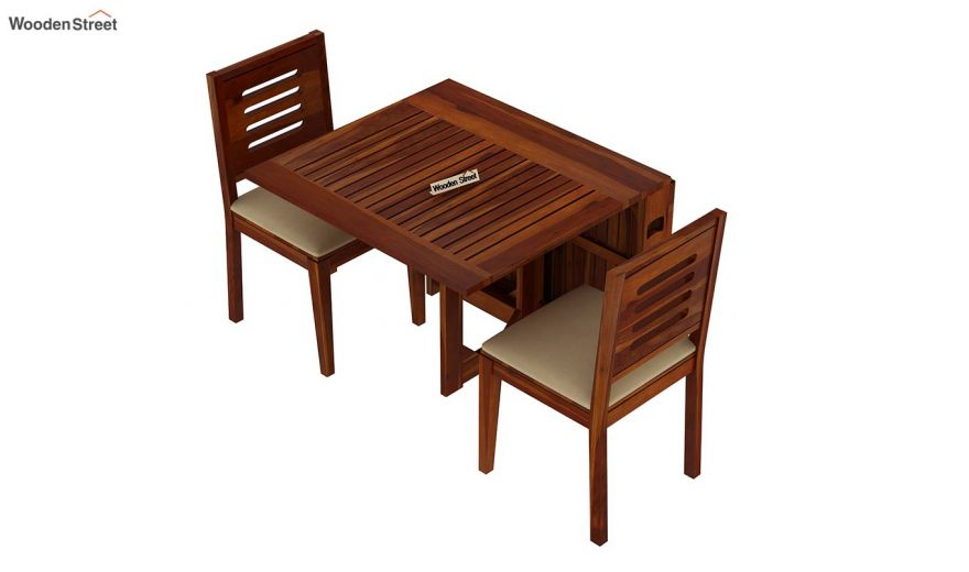 Paul 2 Seater Dining Set (Honey Finish)-4