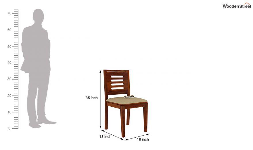 Paul 2 Seater Dining Set (Honey Finish)-17