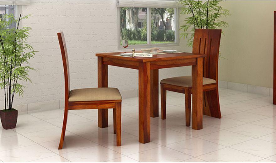 Terex 2 Seater Dining Set (Honey Finish)-1