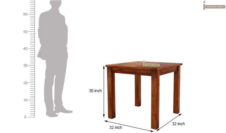 Terex 2 Seater Dining Set (Honey Finish)-8