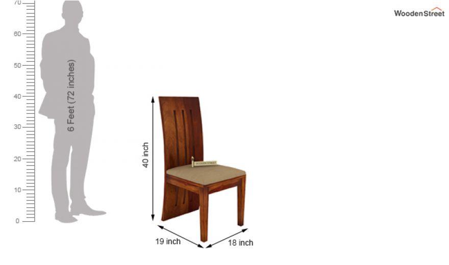Terex 2 Seater Dining Set (Honey Finish)-9