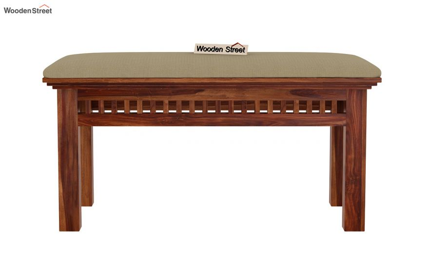 Adolph Compact 4 Seater Dining Set with Bench (Teak Finish)-12