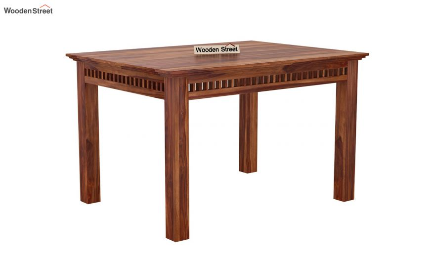 Adolph Compact 4 Seater Dining Set with Bench (Teak Finish)-7