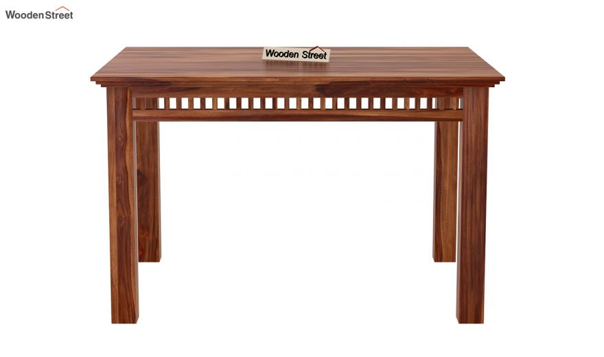 Adolph Compact 4 Seater Dining Set with Bench (Teak Finish)-8
