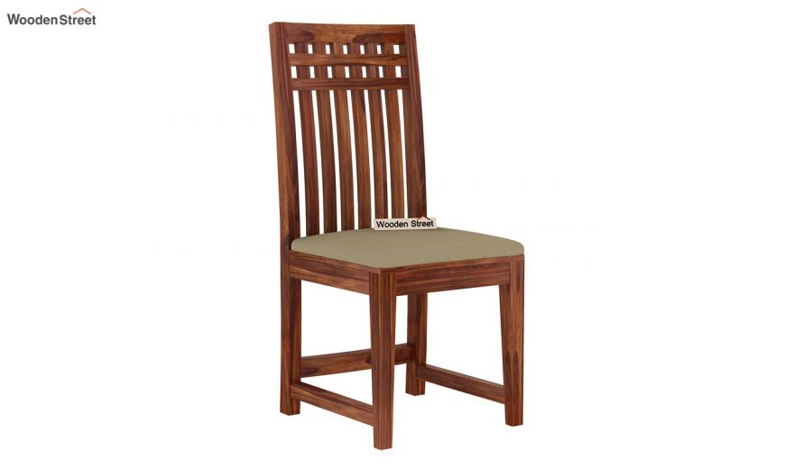 Adolph Compact 4 Seater Dining Set with Bench (Teak Finish)-9