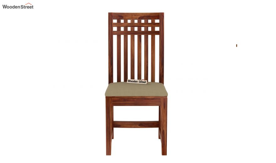 Adolph Compact 4 Seater Dining Set with Bench (Teak Finish)-10