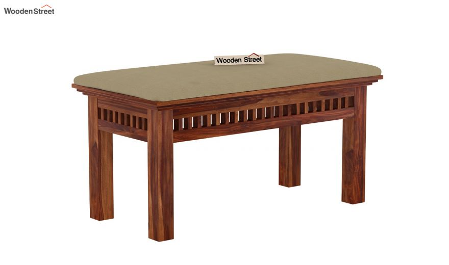 Adolph Compact 4 Seater Dining Set with Bench (Teak Finish)-11