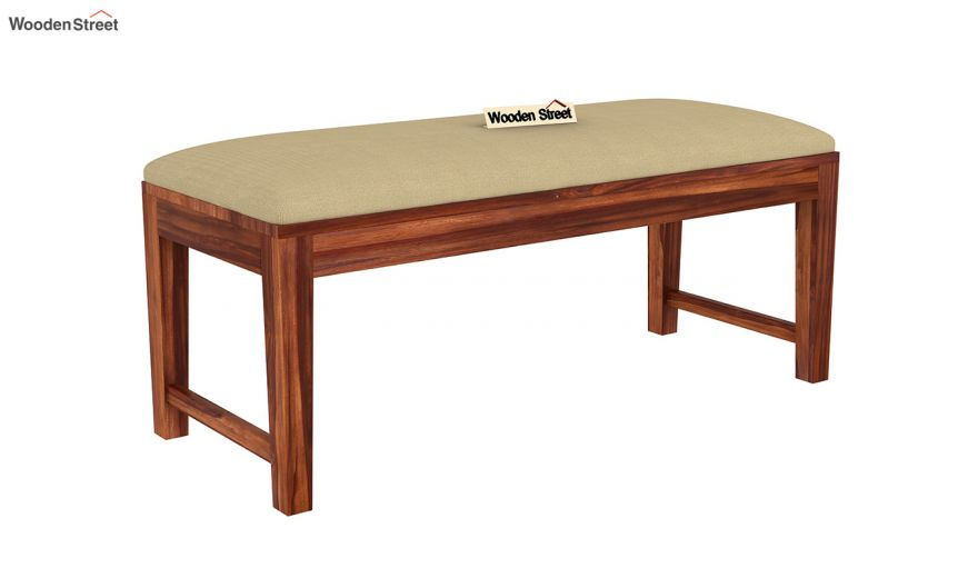 Advin 6 Seater Extendable With Bench Dining Set (Honey Finish)-12