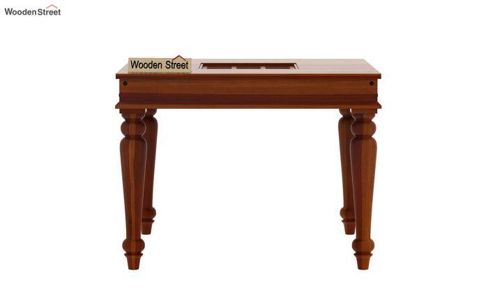 Boho 2 Seater Dining Table (Honey Finish)-3