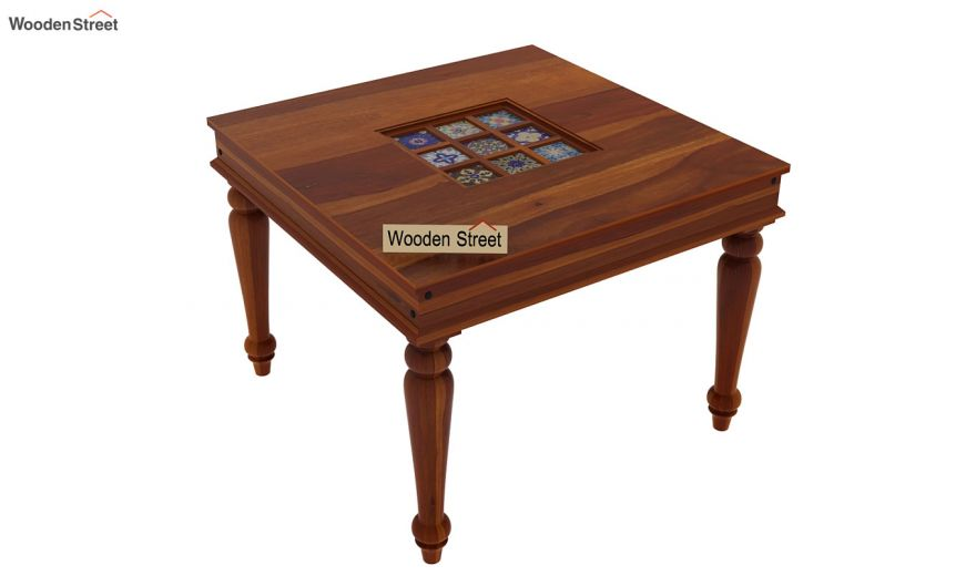 Boho 2 Seater Dining Table (Honey Finish)-4