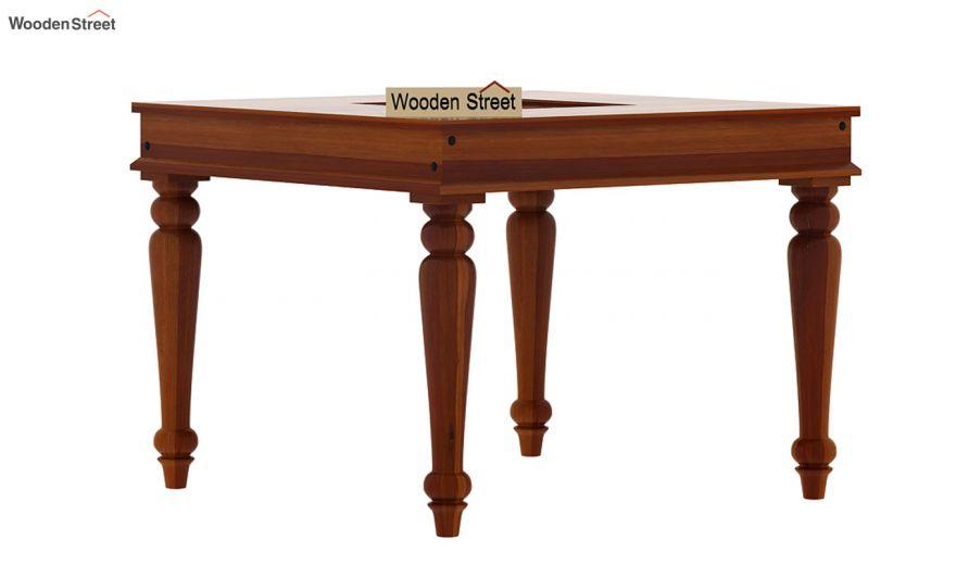 Boho 4 Seater Dining Table (Honey Finish)-2