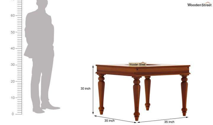 Boho 4 Seater Dining Table (Honey Finish)-5