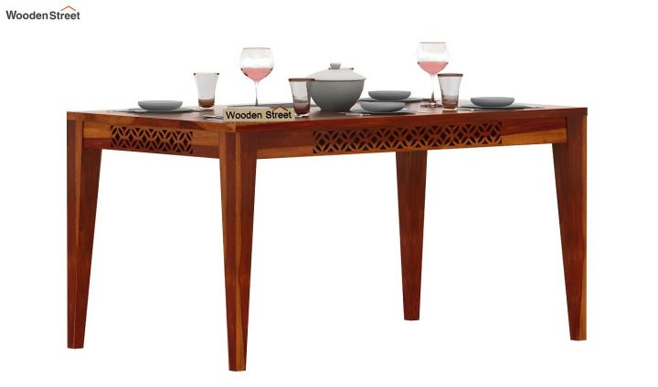Cambrey 6 Seater Dining Table (Honey Finish)-2
