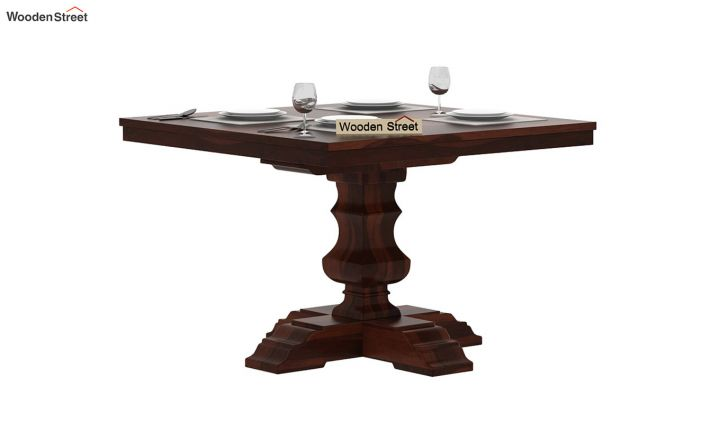 Clark Square 2 Seater Dining Table (Walnut Finish)-2