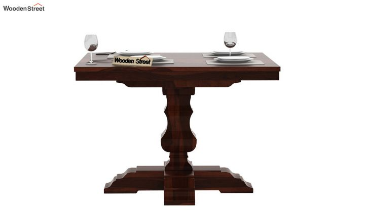Clark Square 2 Seater Dining Table (Walnut Finish)-3