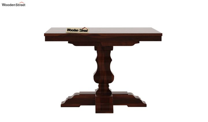 Clark Square 2 Seater Dining Table (Walnut Finish)-5