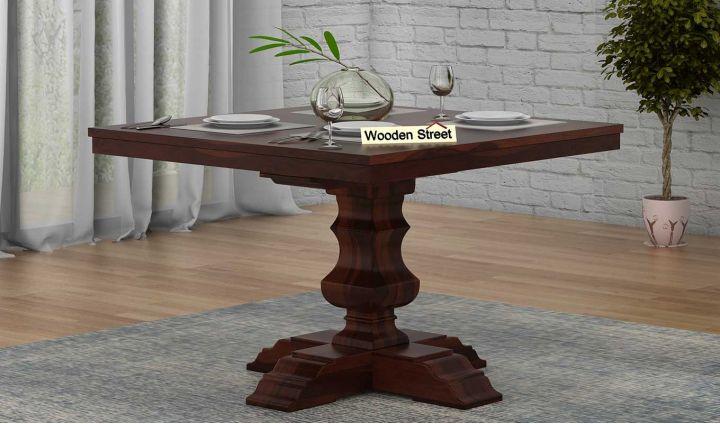 Clark Square 4 Seater Dining Table (Walnut Finish)-1