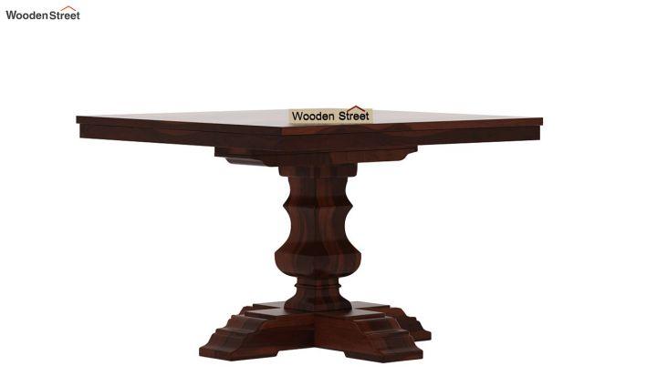 Clark Square 4 Seater Dining Table (Walnut Finish)-4