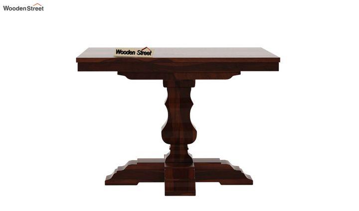 Clark Square 4 Seater Dining Table (Walnut Finish)-5