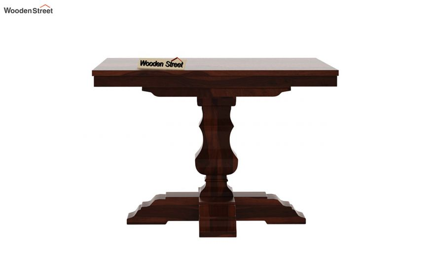 Clark Square 4 Seater Dining Table (Walnut Finish)-5