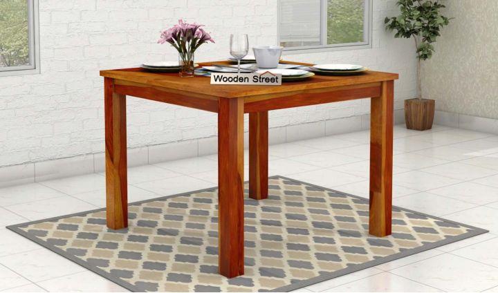 Elaine 2 Seater Dining Table (Honey Finish)-1