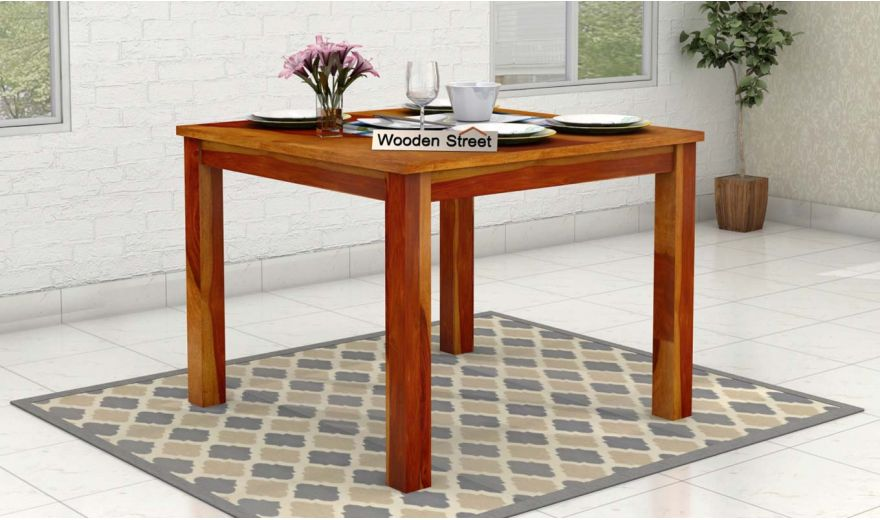 Elaine 2 Seater Dining Table (Honey Finish)-1