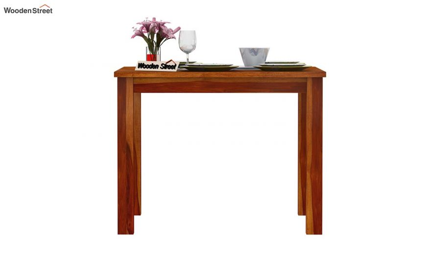 Elaine 2 Seater Dining Table (Honey Finish)-3