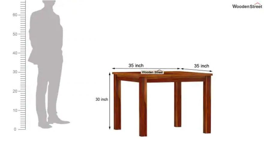 Elaine 2 Seater Dining Table (Honey Finish)-6