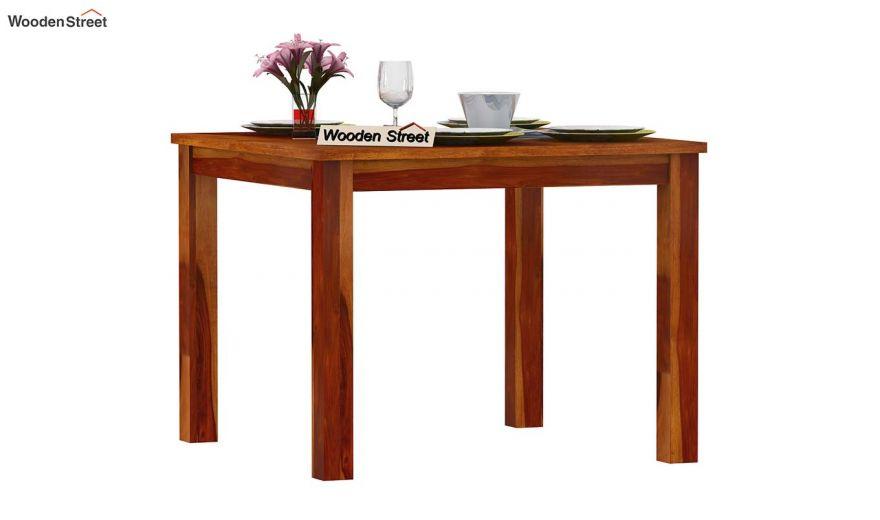 Elaine 4 Seater Dining Table (Honey Finish)-2