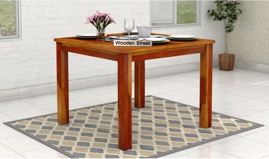 Elaine 4 Seater Dining Table (Honey Finish)-1