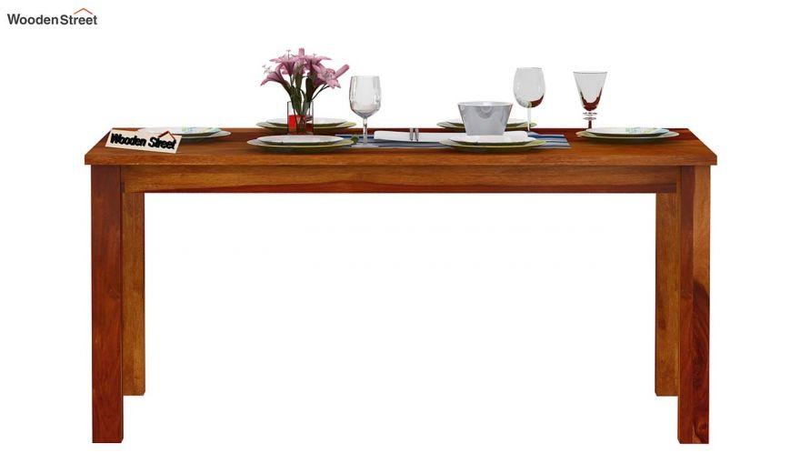 Elaine 6 Seater Dining Table (Honey Finish)-3