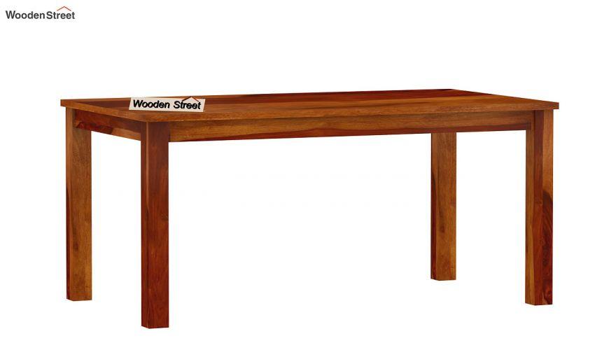 Elaine 6 Seater Dining Table (Honey Finish)-4
