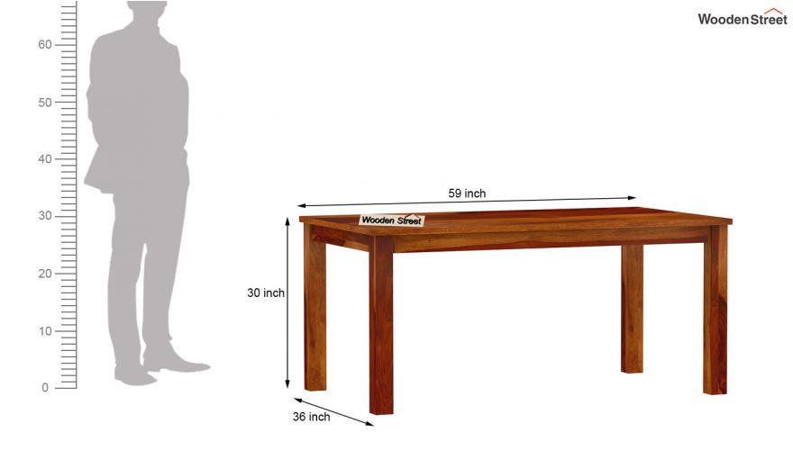 Elaine 6 Seater Dining Table (Honey Finish)-6