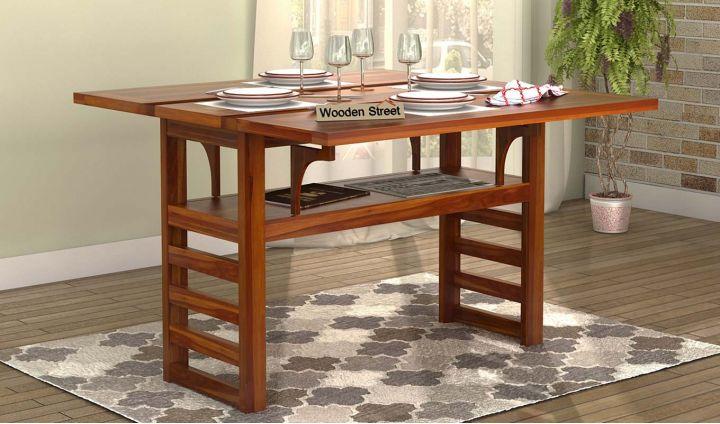 Feller Foldable Dining Table (Teak Finish)-1