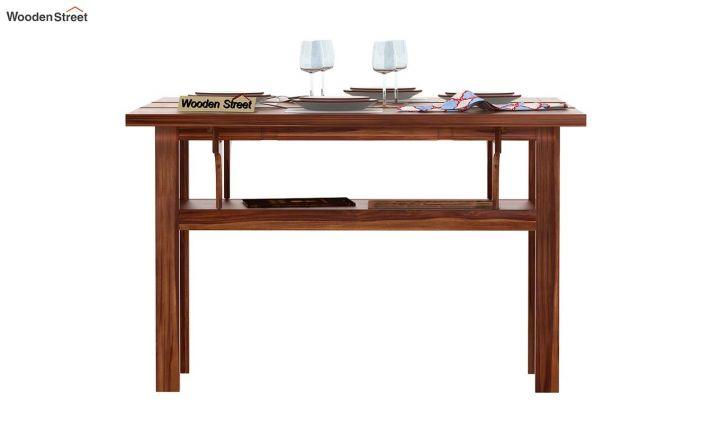 Feller Foldable Dining Table (Teak Finish)-3