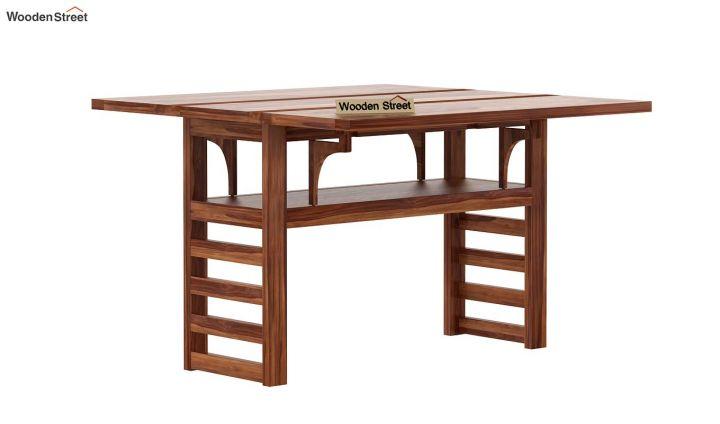 Feller Foldable Dining Table (Teak Finish)-4