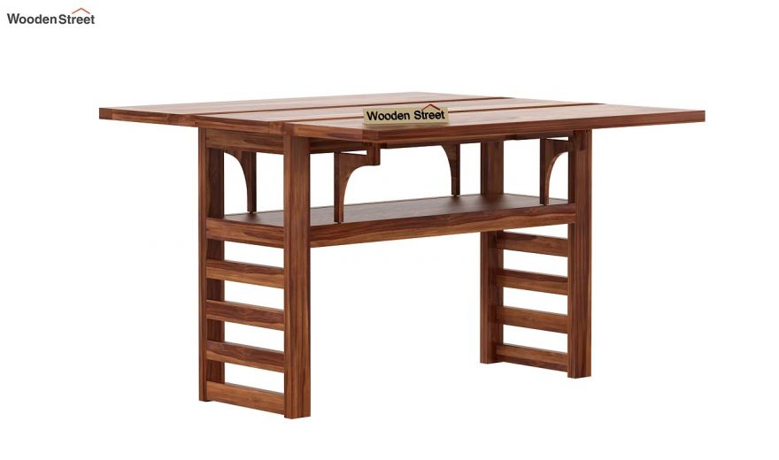 Feller Foldable Dining Table (Teak Finish)-4